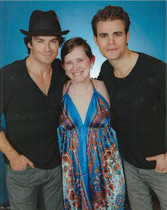 Ian Somerhalder and Paul Wesley photo op! (Not taken or edited by me.)