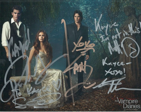 Signatures! Ian Somerhalder <3, Paul Wesley, Sebastian Roche, Matt Davis, Steven Krueger (Not taken or edited by me.)