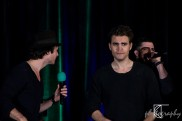 Ian Somerhalder, plays Damon Salvatore; Paul Wesley, plays Stefan Salvatore; Micah Parker, plays Adrian